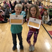 3rd Grade Ranger Pride Student of the Month