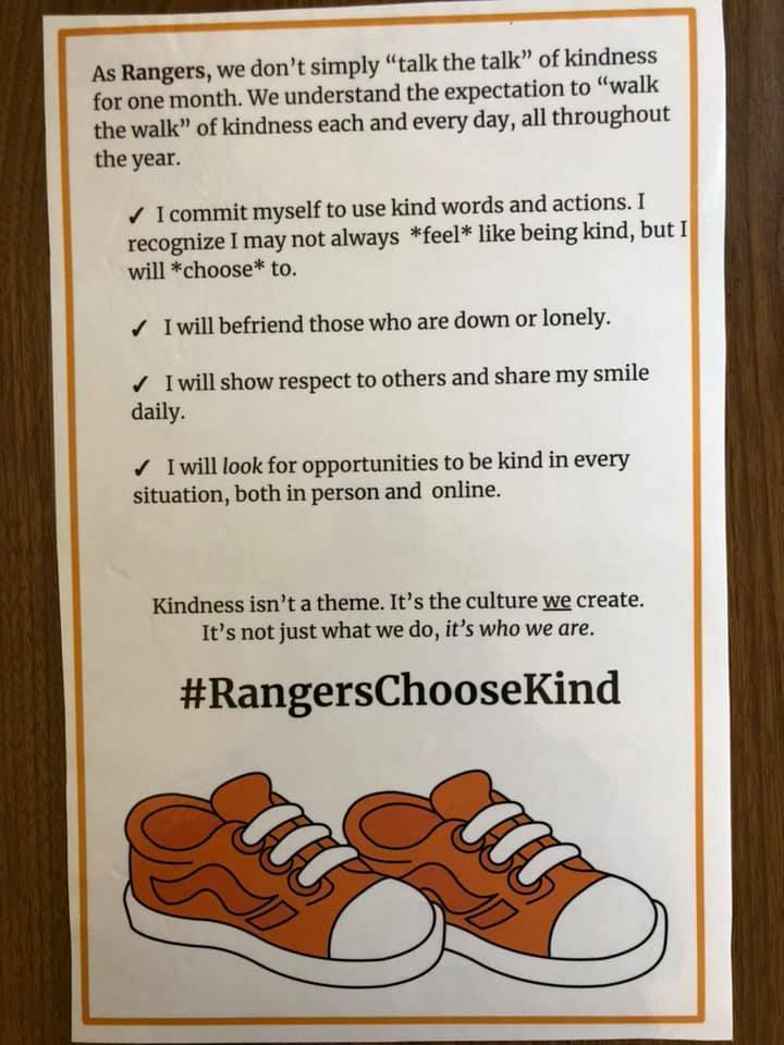 Ranger Pledge for Kindness